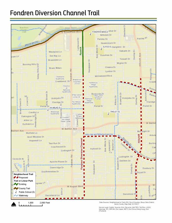 Fondren Diversion Map