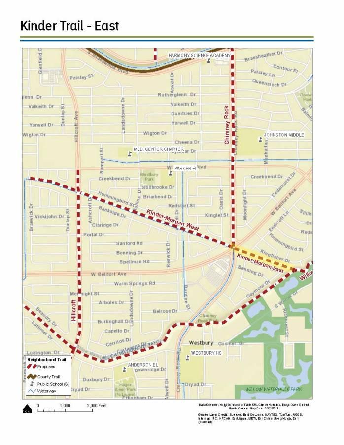 Kinder East Map